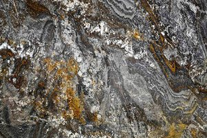 A brown granite with a mix of cream and black colors as well.