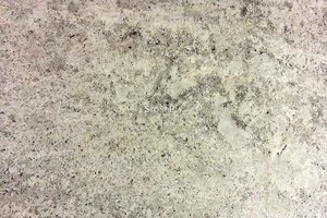 A light grey granite with silver and black flecks.