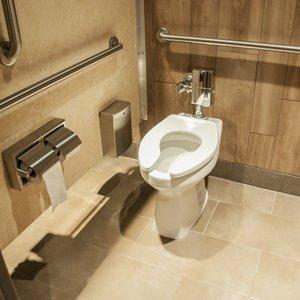 Bathroom Partition in Bathroom Stall at CineBistro