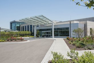 Exterior image of Delnor Hospital North Expansion entrance