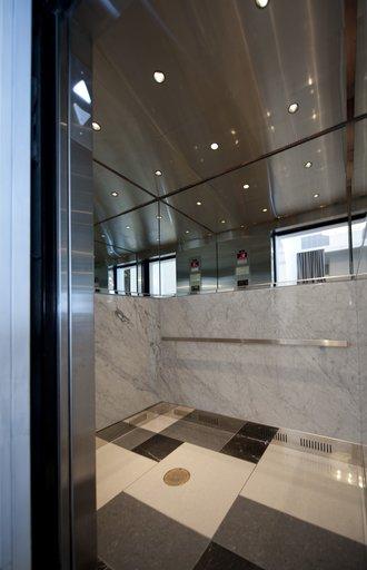Interior Elevator at Padre Hotel