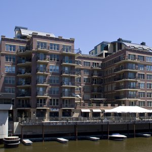 View of River Renaissance Penthouse Suite From Across The River